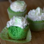 Green Mint Shamrock cupcakes for St Patricks Day