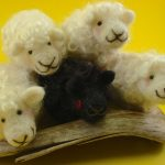 Make these cute needle felt lambs