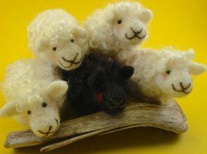 Make these cute needle felt lambs